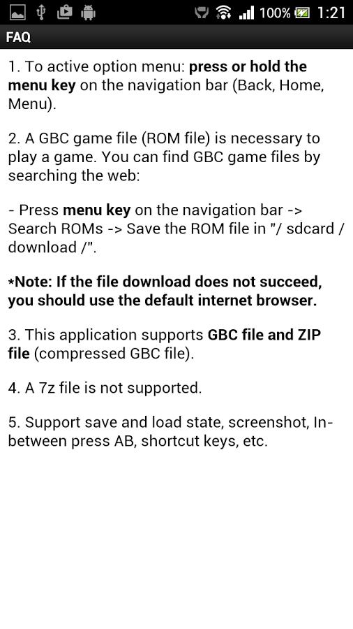 GemBoy! GBC Emulator Screenshots 3