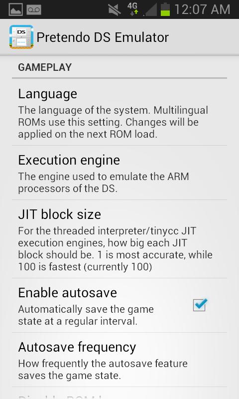 Pretendo NDS Emulator Screenshots 4