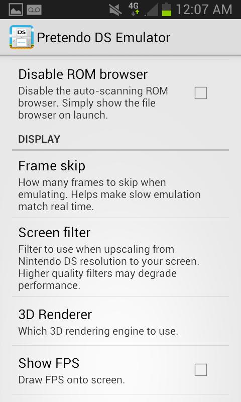 Pretendo NDS Emulator Screenshots 5
